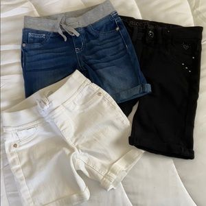 3 pairs of girls shorts size 10S